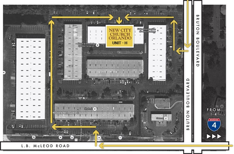 Map and directions to New City Church Orlando